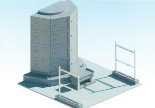 共同墓の完成予想図